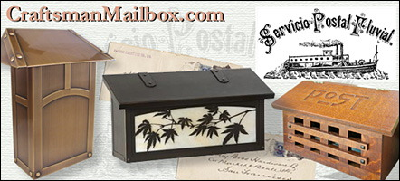 craftsman mailbox in quartersawn oak or metals such as copper, antique brass, pewter, verdegris