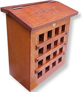 Locking Wood Mailbox Craftsman Style Tall